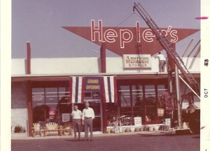 Grand Opening, Hepler's Hardware new location Oct 1963