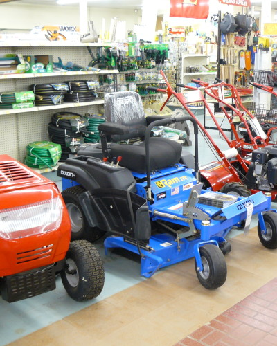 riding mowers, garden rototillers, Hepler's Hardware